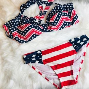 CATALINA patriotic American flag bikini
